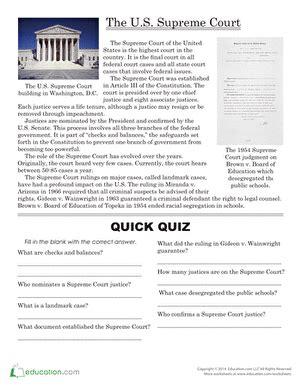 the supreme court supreme court comprehension
