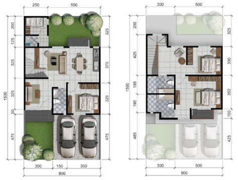 Contoh gambar yang semoga bisa kita pilihkan semua model dan tipe desain ruang tamu elegan sederhana untuk anda dengan hal yang harus kita perharikan se detail mungkin dalam perencanaan interior rumah dua lantai minimalis. 44+ Denah Rumah 4 Kamar Tidur 2 Lantai Paling Modern Dan Minimalis