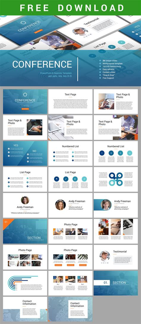 conference keynote template powerpoint design layout