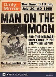 headline news coverage of apollo 11 moon landing from uk ...