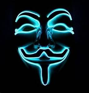 Neon masks Anonymous Blue