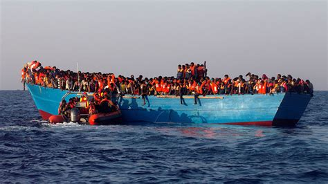 Refugee On Boat by Refugee Boats Should Be Sent Back To Africa According To