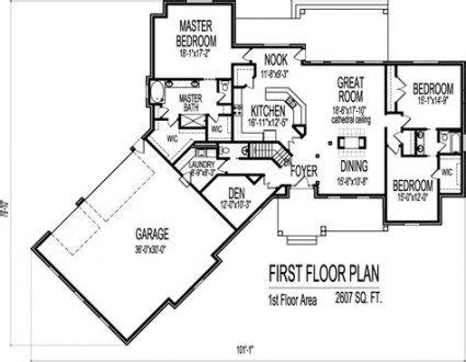 house plans ranch  sq ft square feet  ideas house plans  story ranch house floor