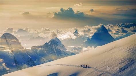 suisse jungfrau dans les alpes bernoises  bing fond