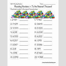 Rounding Worksheets 3rd Grade Rounding To The Nearest Thousand Worksheet Have Fun Teaching