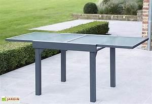 Table De Jardin Extensible : table de jardin extensible modulo 90x90 180x72cm l l h 4 coloris wilsa ~ Teatrodelosmanantiales.com Idées de Décoration