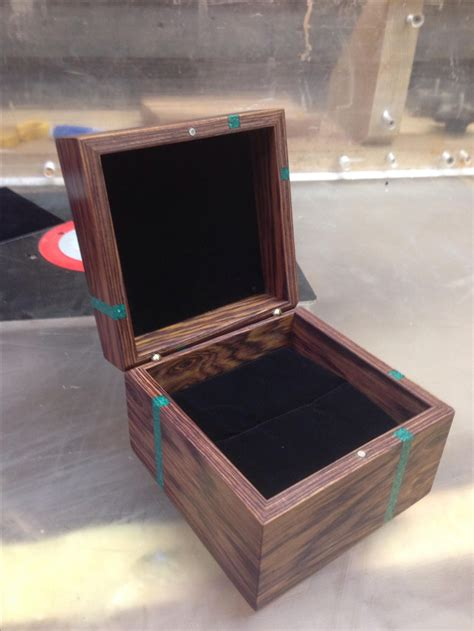 custom made wedding ring box custom cocobolo engagement ring box by cjs woodworks custommade com