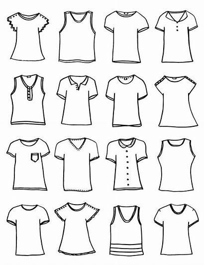 Printable Shirt Template Shirts Drawing Printables Designer