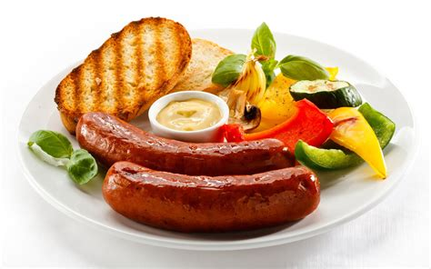 sauge cuisine two sausages for a breakfast wallpapers and images