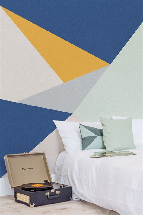 tangram wall mural bedroom wall designs wall design