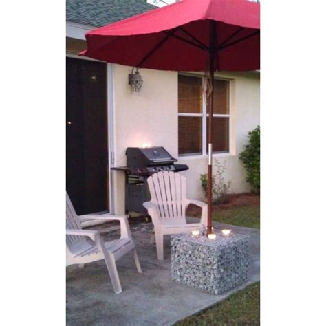 gabion basket patio umbrella base cover