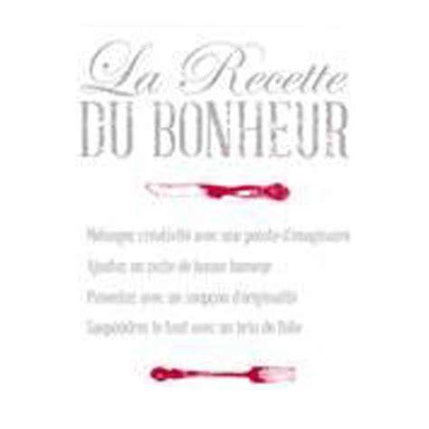 stickers cuisine quot la recette du bonheur quot 50x70cm