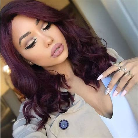 burgundy hair color     perfect shade