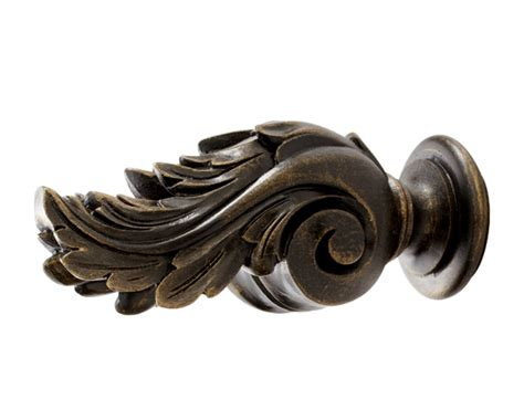 kirsch icarus finial for 1 3 8 inch or 2 inch wood drapery