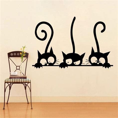 Wandtattoo Kinderzimmer Katze die besten 25 wandtattoo katze ideen auf wall