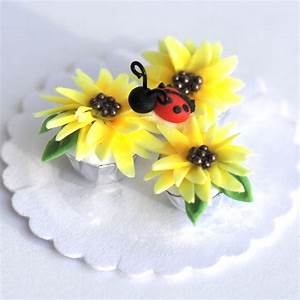 Sunflower and Lady Bug Cupcakes Stewart Dollhouse Creations