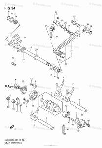 Suzuki Motorcycle 2008 Oem Parts Diagram For Gear Shifting