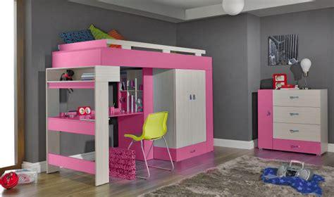 lit avec bureau pour fille lit mezzanine avec bureau pour fille visuel 5
