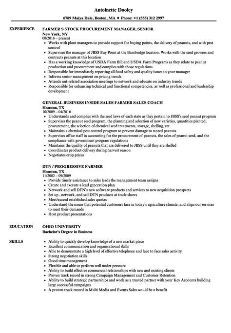 Farmer Resume by Farmer Resume Sles Velvet