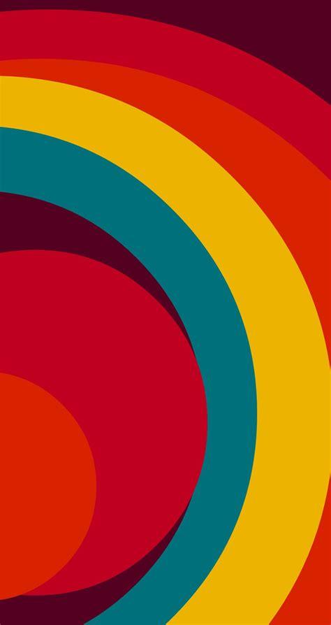 rainbow style minimalist pattern wallpaper tap