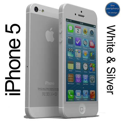 iphone 5 models iphone 5 white silver 3d models cgtrader