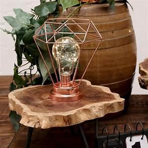 Lampe Mit Mehreren Lampenschirmen : lampe im kupfer design mit gl hbirne im vintage look vintage shabby kult diy deko ~ Markanthonyermac.com Haus und Dekorationen