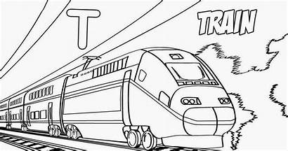 Train Coloring Pages Monorail
