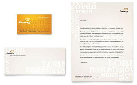 artisan bakery business card letterhead template design