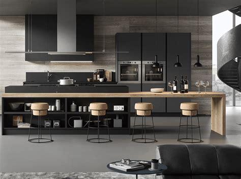 cuisine gris et bois cuisine design en bois et gris anthracite