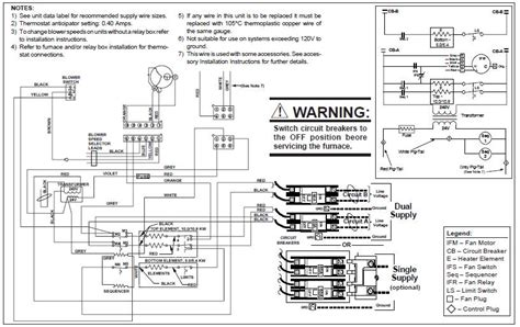 wiring  intertherm eeh ha orange wire coming  blower harness    connect