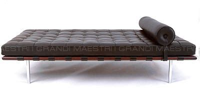 Tappezzeria I Maestri by Letto Barcelona Daybed Mies Der Rohe