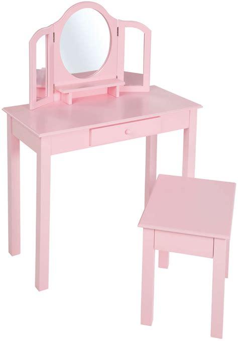 kinder schminktisch holz roba kinder schminktisch frisiertisch frisierkommode m spiegel hocker holz rosa