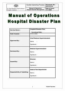Hospital disaster recovery plan template 28 images 100 for Hospital disaster recovery plan template