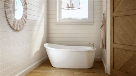 soaking tub small a shapely soaking tub for small spaces homebuilding
