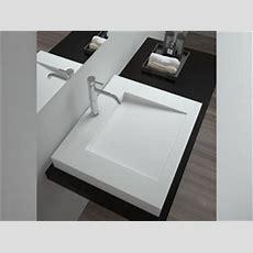 Basento  Waschbecken  Mineralguss  Weiß Glänzend