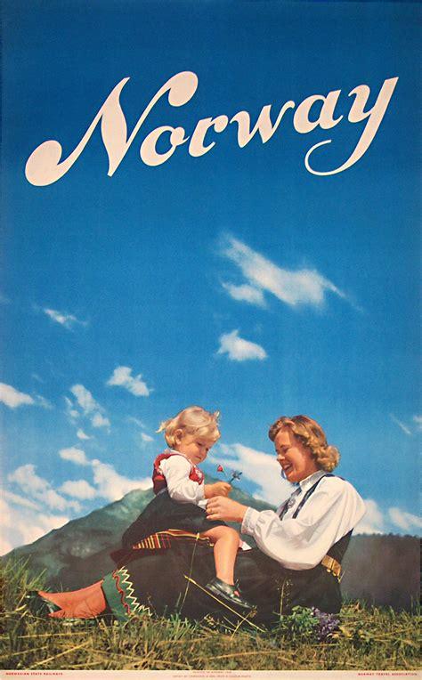 Original vintage poster: Norway - 1948 for sale at ...