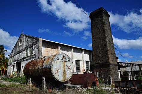 st hubert  sugar mill chimney vintage mauritius