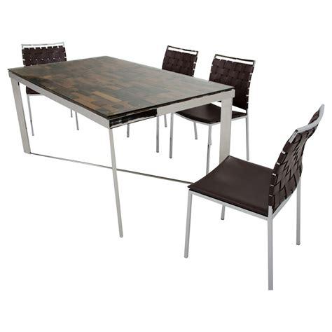 shine kitchen cabinets modrest santiago rectangular dining table gray dcg stores 2193