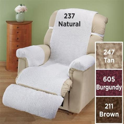 cheap sherpa recliner cover recliner slipcovers