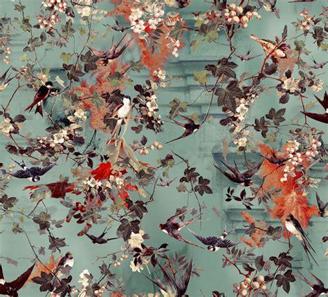 hirondelles  jean paul gaultier ete wallpaper