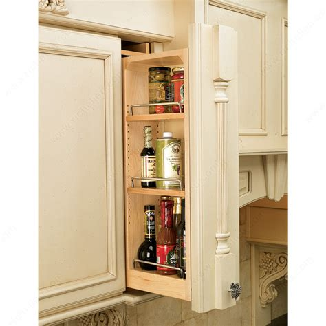 kitchen cabinet storage racks wall cabinet pull out filler richelieu hardware 5816