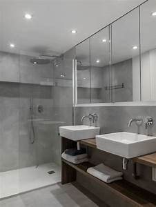 placard miroir salle de bain maison design bahbecom With porte de douche coulissante avec miroir led salle de bain sur mesure