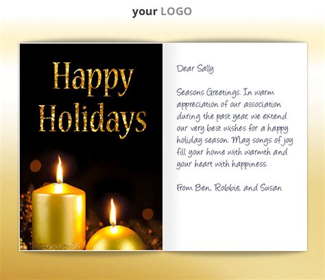 holiday business ecards animated corporate ecard candles holidays happy glowing personalised ekarda custom eu tree