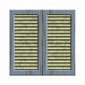 Old window, closed shutters - vector | Stock Vector ...