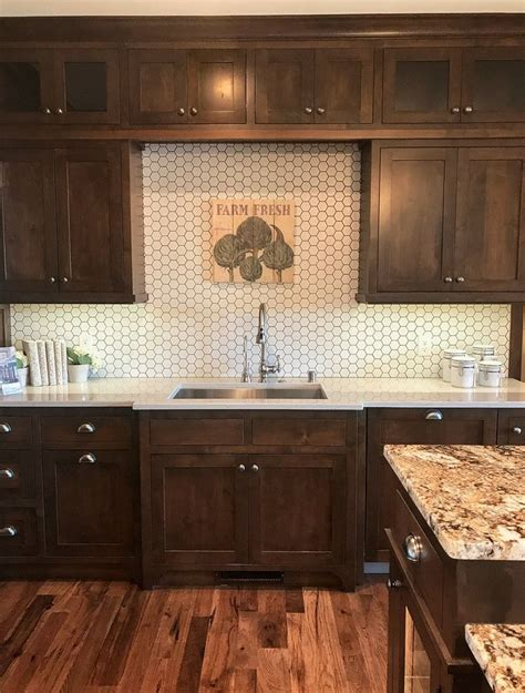 brown cabinets backsplash savae org