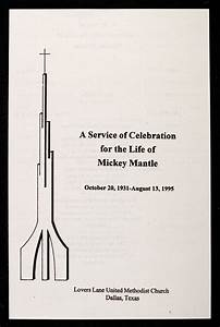 Lot Detail - 1995 Mickey Mantle Funeral Program