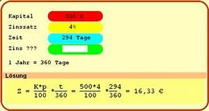 Zinsrechnung Tage Berechnen : beispielaufgaben ~ Themetempest.com Abrechnung
