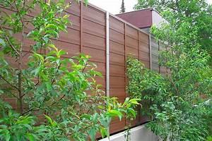 sichtschutzelemente aus wpc blickschutz und larmschutz With französischer balkon mit garten lärmschutz