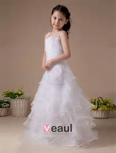 robe de mariã e fille blanc fantastique robe ceremonie fille robe fille mariage de tulle à volants 2215040015