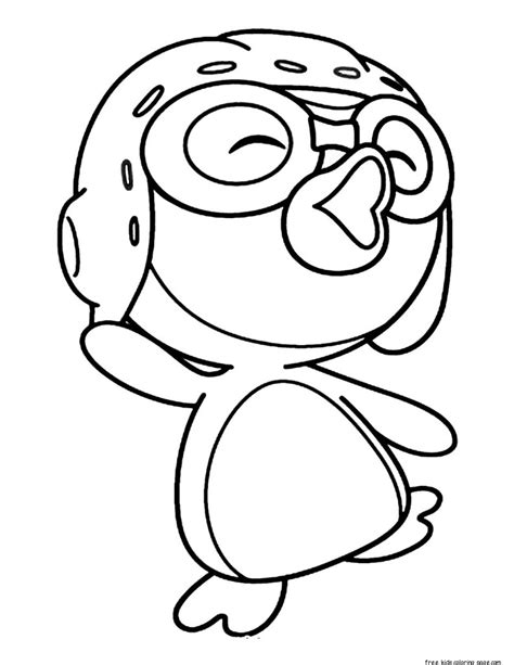 printable pororo   penguin coloring pages  kidsfree printable coloring pages  kids